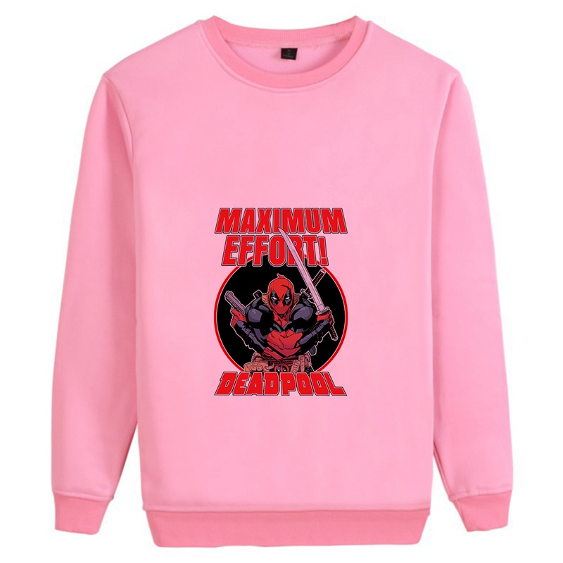 Deadpool Marvel Movie Trendy O NECK Cotton Sweatshirts leisure Casual Unisex Athletic Shirts A193291 in Hoodies amp Sweatshirts from Men 39 s Clothing