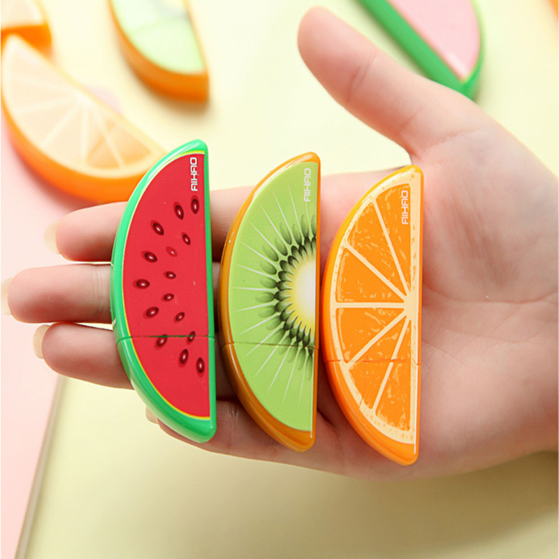 1Pcs Cute Fruit Correction Tape Plastic Material Escolar Kawaii Stationery Office School Supplies форма для нарезки арбуза