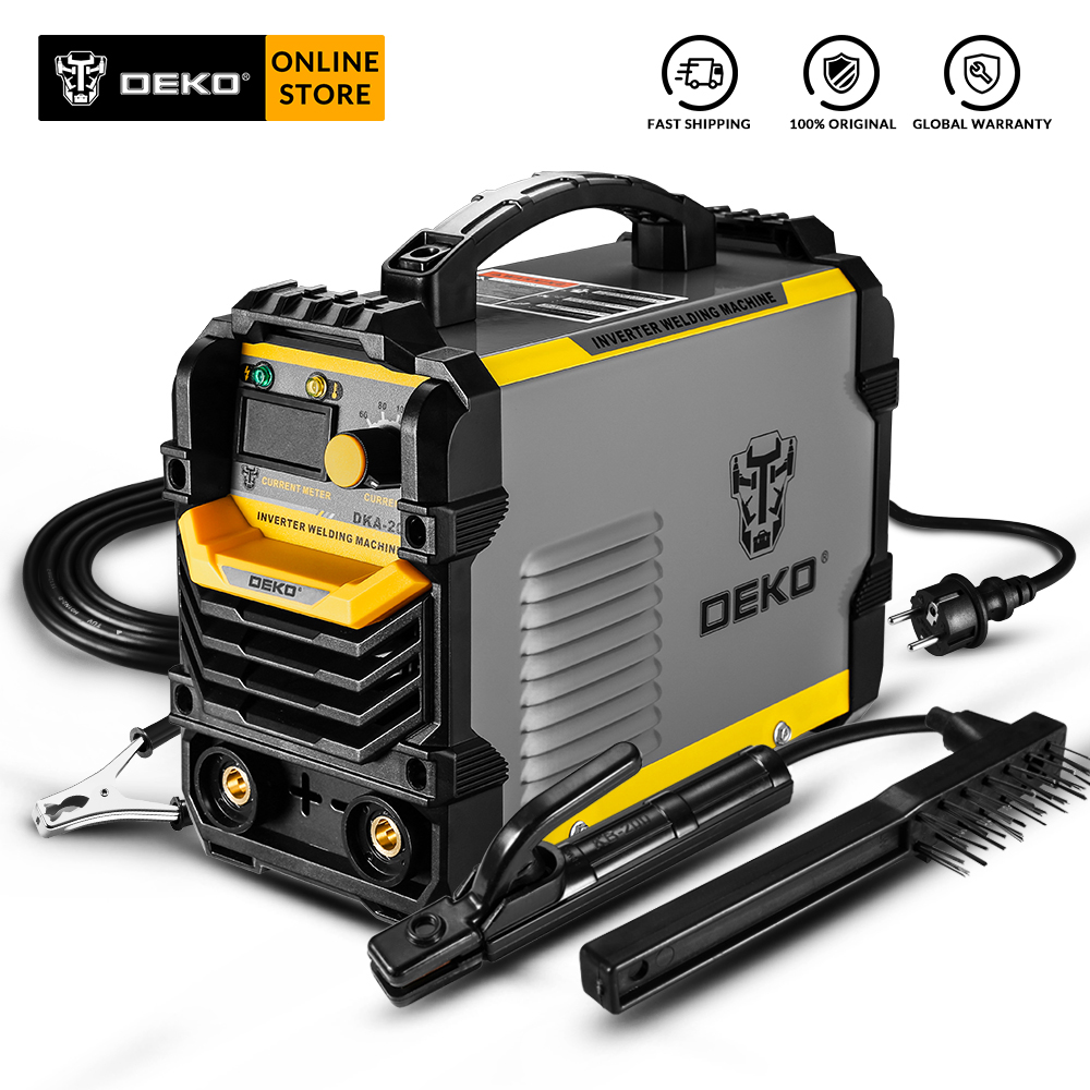 DEKO DKA-200Y 200A 4.1KVA Inverter Arc Electric Welding Machine 220V MMA Welder Welding Tool For Home/Industrial Welding Task