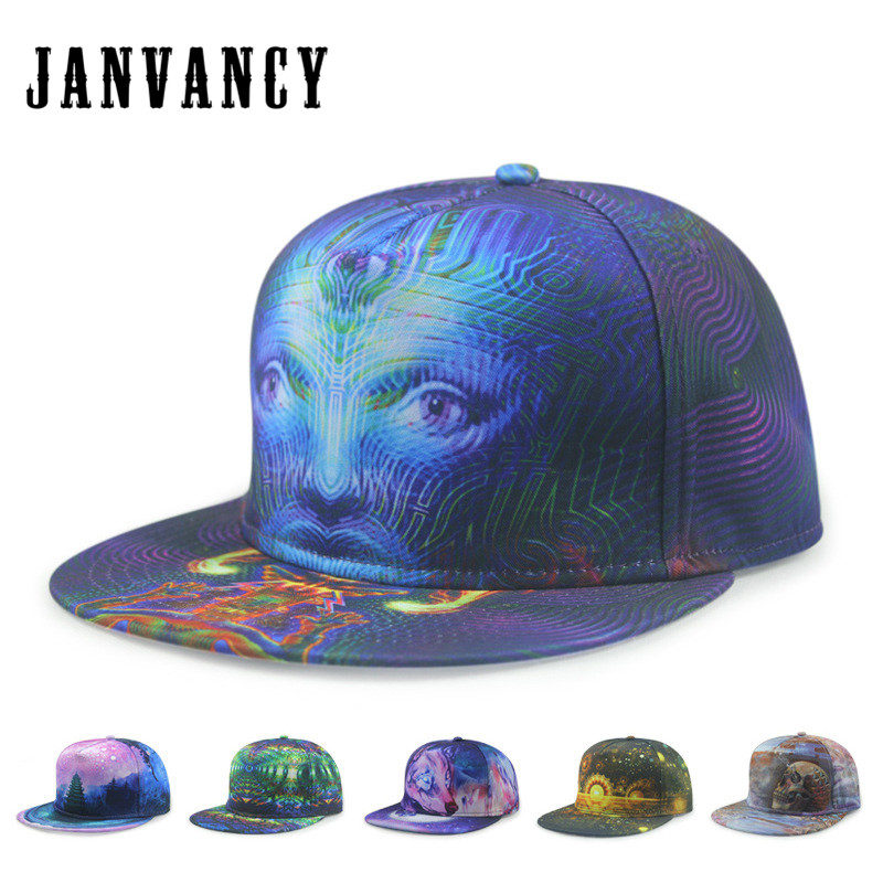 f9ba1a2863399 Janvancy Novelty Hip Hop Baseball Cap 3D Print Steampunk Hats Men Women  Fashion Cool Bone Snapback