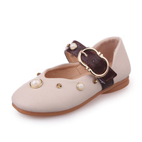 Spring Autumn Kids Fashion Princess Casual Shoes Girls Pearl PU Leather Children Dance Shoes School Girl