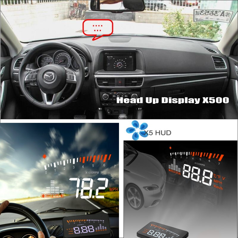 Car Information Projector Screen For Mazda CX-5 CX 5 CX5 2012~2015 - Safe Driving Refkecting Windshield HUD Head Up Display