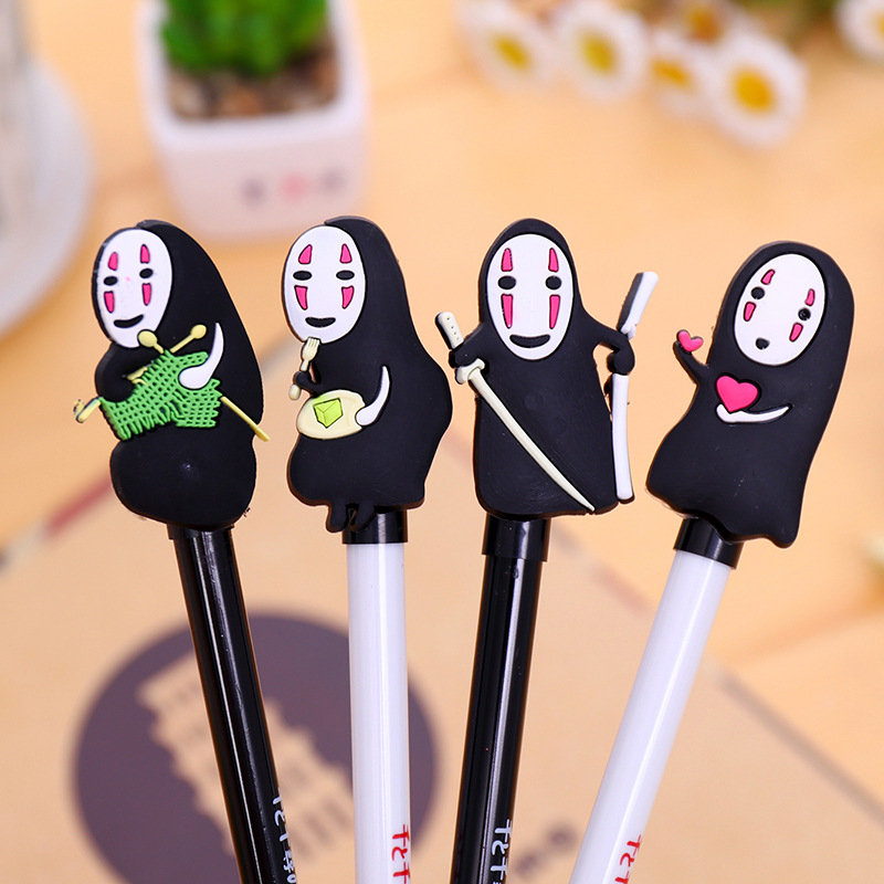 Korean Stationery Cute Gel Anime Neutral Pen Creative Pen Cartoon Faceless Man Writing Supplies School Tools Wholesale