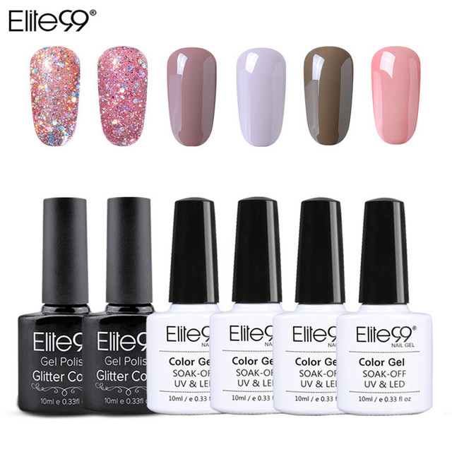 Elite99 Nude Bling Bunte Gel Lack UV Nagel Gel Polnisch Nägel Gel Lack 6 teile/satz Nail art Gel Maniküre Nägel lack