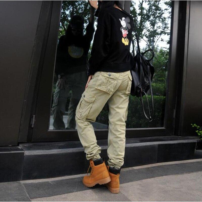 kaki De Tactique Droit Femmes Pantalon Plus Cargo Noir Poche 2018 army Coton Green pT7qTC