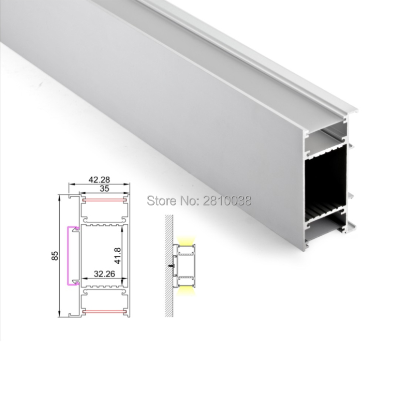 Reasonable 30 X 2m Sets/lot Wall Washer Led Aluminum Channel U Shape 85mm Tall Aluminium Led Profile Housing For Up & Down Wall Lamp Luxuriant In Design Lights & Lighting Led Lighting