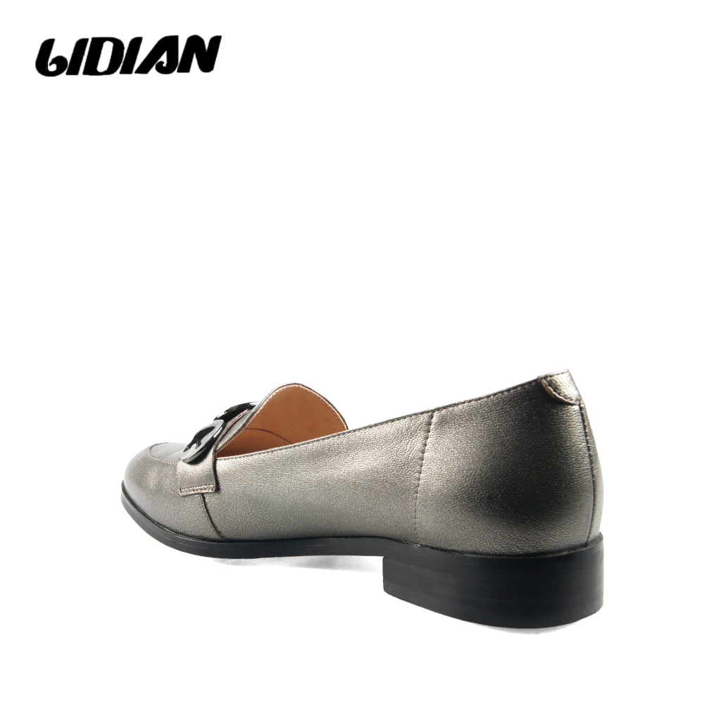 Schnallen Leder Frauen pewter Schuhe black Riemen Komfortable B64 Klassische 2019 Cow Lidian Black Heels Patent Low 1gqEI0S