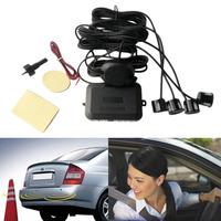 Parking Alarm Monitor System 4 Car/  Automobile   Parking   Sensors   Reverse Rear Assistance Radar Rearview Buzzer Sound Drop Shipping
