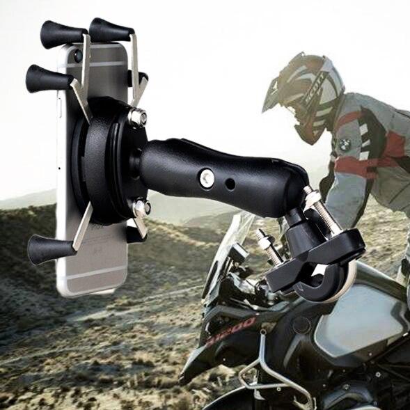 Цена за Укрепить мотоциклетные держатель телефона мобильный телефон стенд Поддержка для iPhone7 6 6splus GPS держатель телефона велосипеда с Soporte movil Moto