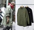 korean hot sale men's japan jacket overcoat windbreaker Black/Green long military style european trench coat men