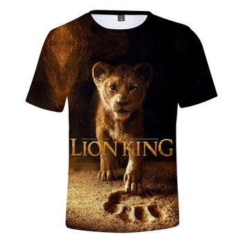 2019 NEW Film glory kingdom King The Lion King Simba 3D t-shirt Men/Women summer Hip hop Casual t shirt Short Sleeve Clothes
