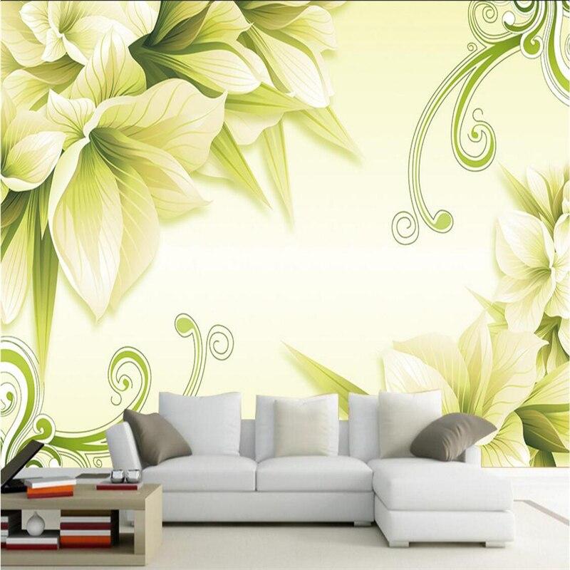 beibehang wallpaper mural wall sticker modern simple flower flower