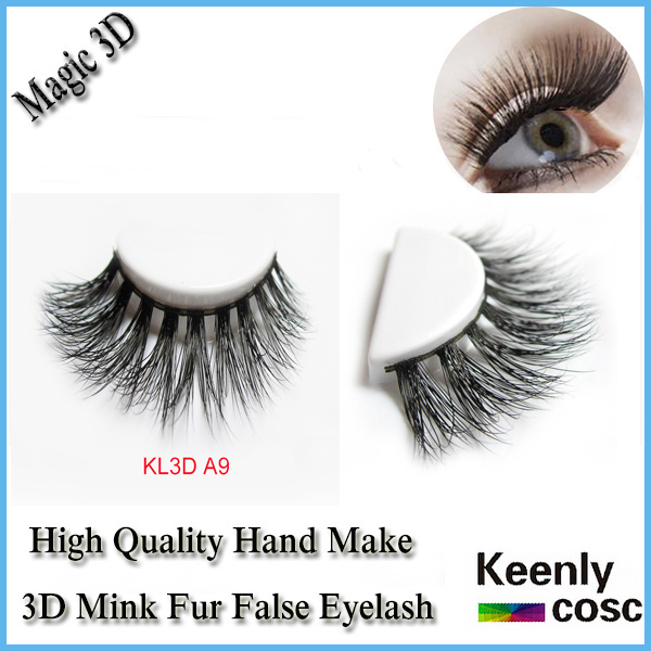 Fastest Shipping! Fashion Magic 3D real mink fur eyelash 3D volume belle eyelashes extension makeup