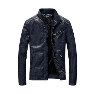 Image 5 - 2020 חדש עור מפוצל מעיל גברים בגדי Streetwear שטף צמר אופנוע עור מעיל אופנה מפציץ מקרית מעיל דרעי Mont