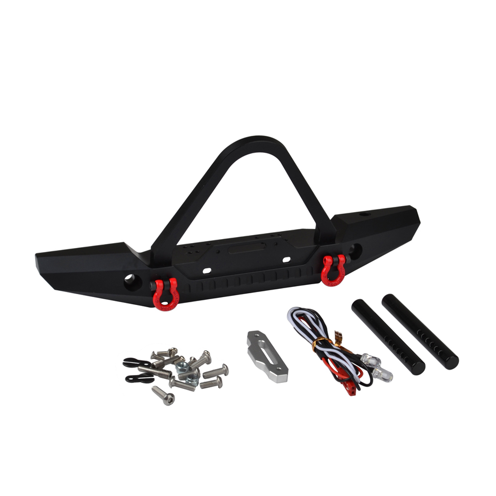RC High Quality SCX10 Metal Steel Front Bumper for Traxxas TRX-4 TRX4 & 1/10 RC Crawler Car metal front bumper for 1 10 traxxas trx4 d110 rc crawler car part