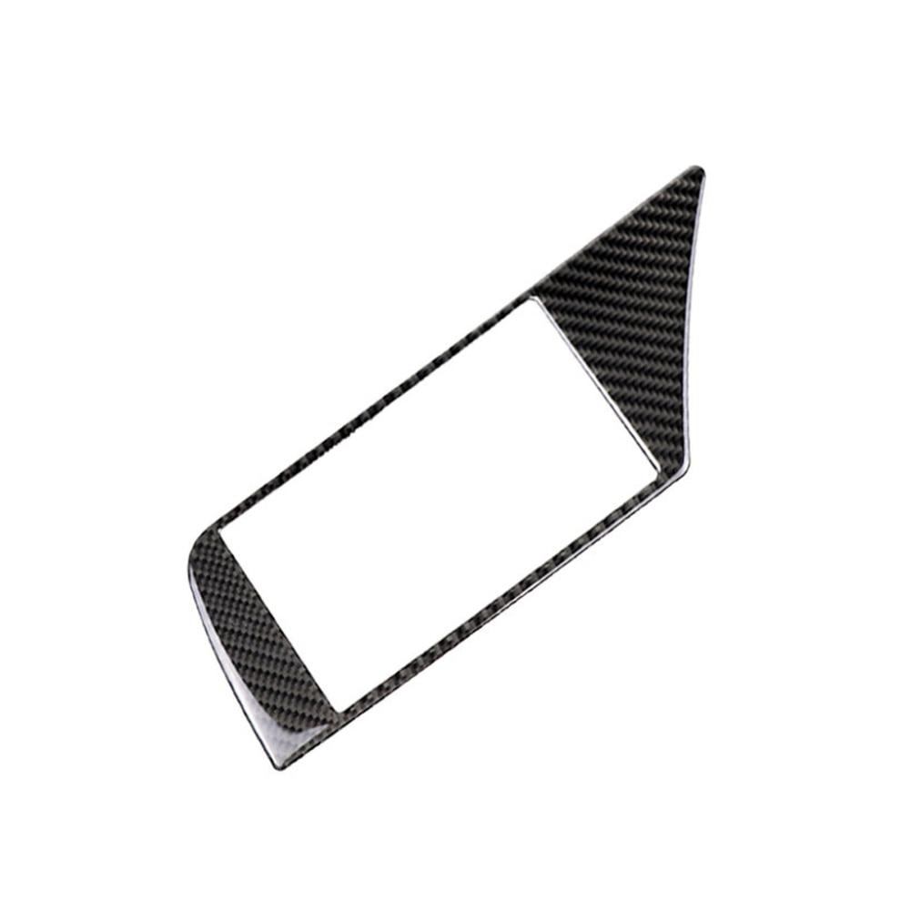רשימת הקטגוריות Carbon Fiber ניווט לרכב מסך מסגרת כיסוי מדבקה עבור אאודי A4 B8 09-16 (3)