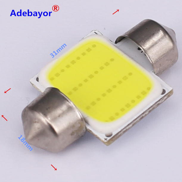 Image 5 - 100X 31mm 36mm 39mm 42mm C5W Car led festoon light COB 12 chips Auto super bright COB Festoon MAP/DOME/INTERIOR LIGHTS Adebayor-in Signal Lamp from Automobiles & Motorcycles
