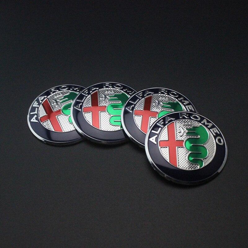 1 шт. 5,6 см 50 мм черный цвет Alfa Romeo GT для шин автомобильных колёс Центральный концентратор Кепка наклейка эмблема значок наклейка подходит для бесплатной доставки - Название цвета: Серебристый
