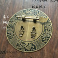 140mm 180mm Chinese antique furniture copper accessories cabinet door shoe wardrobe cupboard handle copper round  Screw Mount