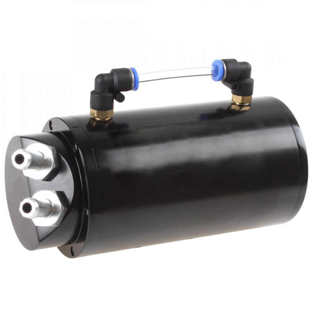 750ML Round Billet Aluminum Black Racing Engine Oil Catch Reservoir Tank / Can|Fuel Tanks|Automobiles & Motorcycles - title=