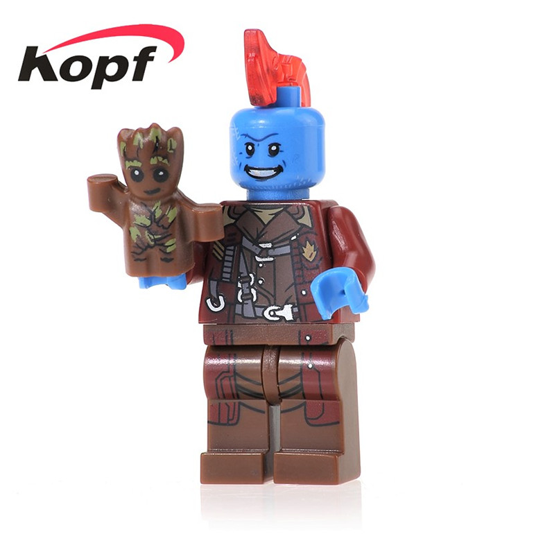 50Pcs PG161 Building Blocks Yondu With Guardians of the Galaxy Super Heroes DIY Figure Bricks Children Toys Gift PG8044