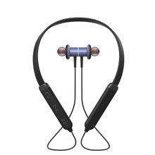 Novo Do Bluetooth Neckband Fone de Ouvido Fones De Ouvido com Magnetic Sweatproof Esporte Fone de ouvido Sem Fio Fones De Ouvido com Microfone