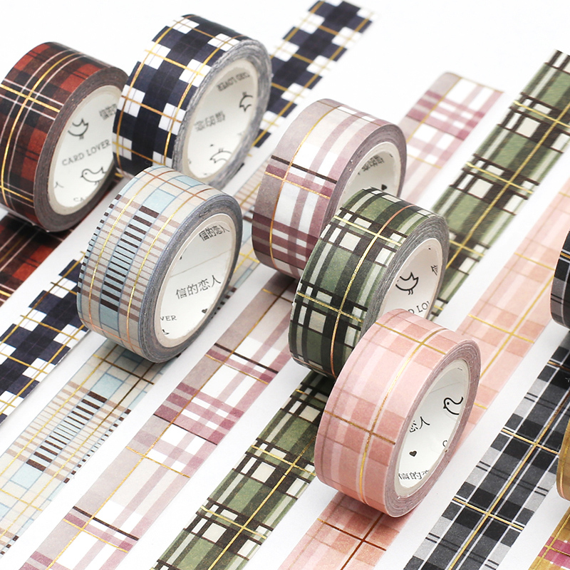 Scotland Grid Colored Washi Tape Diy Decoration Scrapbooking Planner Masking Tape Adhesive Tape Label Sticker