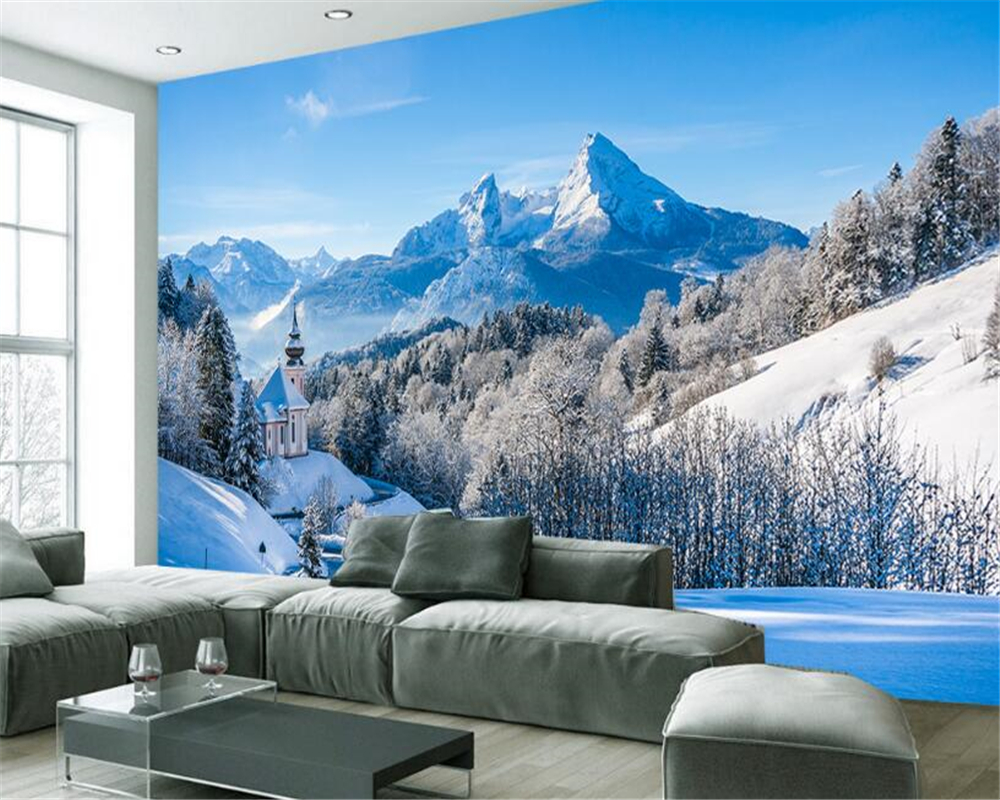 Good Wallpaper Mountain Wall - beibehang-Wallpaper-Customized-Size-Modern-HD-Winter-Snowy-Mountain-Forest-Living-Room-TV-Wall-Background-papel  Gallery_968286.jpg