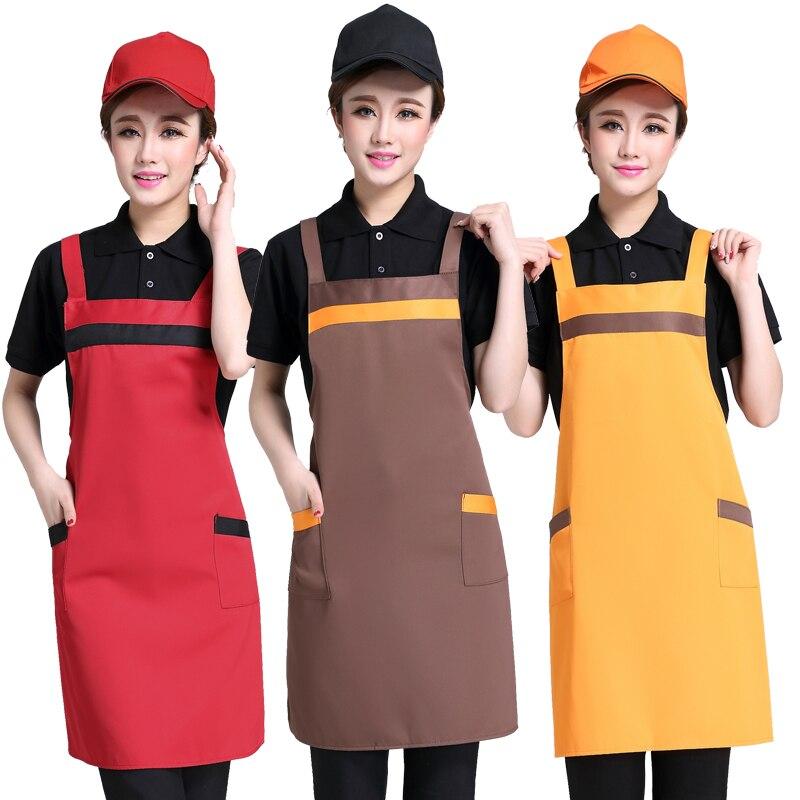 Methodisch Leeg Schort Logo Gedrukt Koreaanse Fashion Keuken Catering Supermarkt Online Cafe Bakken Service Medewerkers Werkkleding Aangepaste Grote Uitverkoop