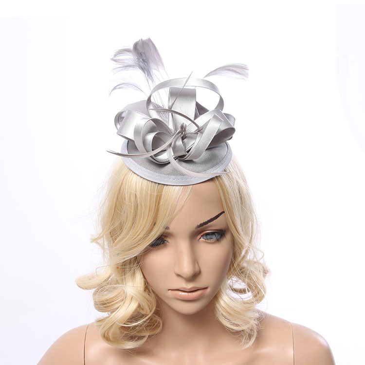 Feather Fascinator Bridal Hair Accessories Headdress Small Hat Hairpin Wedding Banquet Headwear In From Women S Clothing
