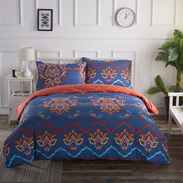 Bohemian style mandala floral bedding 3
