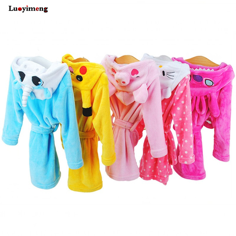 Baby Boys Girls Bath Towel Unicorn Nightwear Unicornio Pajamas Hooded  Bathrobe Soft Children Bath Robe Cute Cartoon Kids Robes 985b002e9
