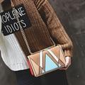 Женщины сумка новая сумка Моды небольшой площади пакет Матовая ткань сумки Цепи пакет обработки Цвета Красивые свежие bsg