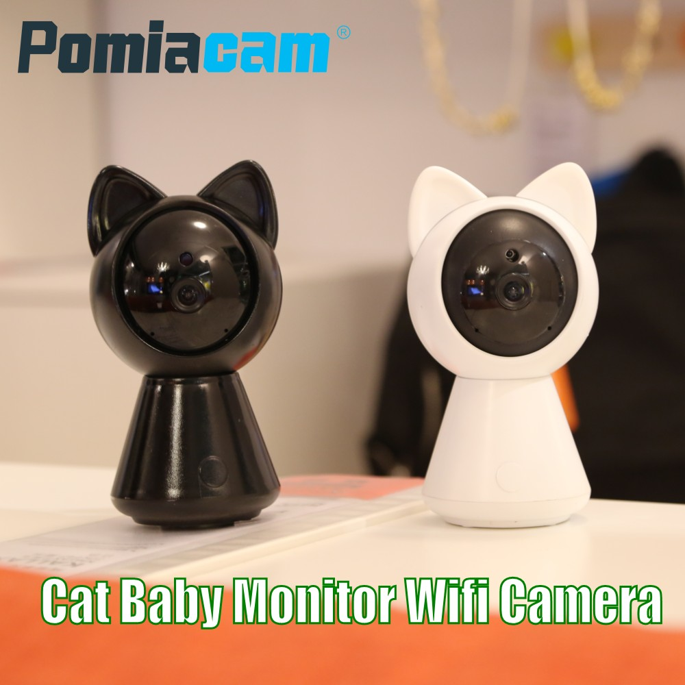 Cat Wifi IP Camera HD 1080P 360 degree Pan/Tilt Home security IP camera Wireless Baby Monitor Video camera with Night Vision