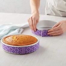 Folha de cozimento proteger banda pano pastoso ferramenta fácil limpo bolo pan tiras assar mesmo tira cinto úmido nível bolo ferramentas #50g
