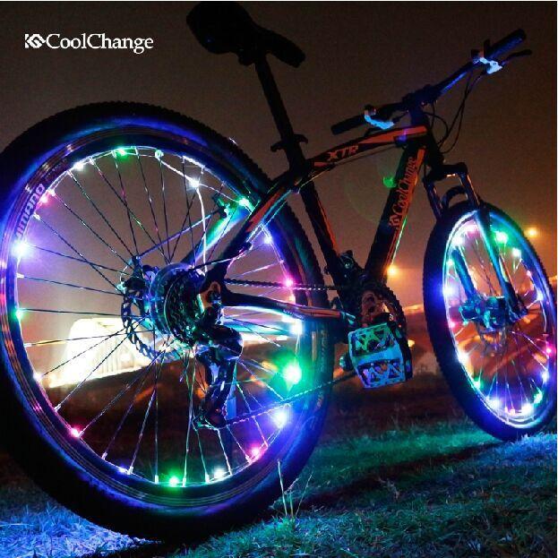 a62e69cce Multicolour bike Bicycle LED Light cycling rear lights Warning Tail light  Flashlight Wheel Cover bicycle accessories decoration en Luz de la bicicleta  de ...