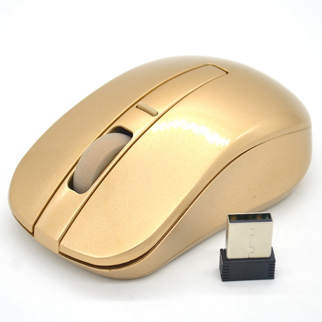 2018 Hot Sale Super Cool 2.4GHZ Gold Wireless Mouse Wifi Gaming Mouse for Laptop PC Computer Gamer