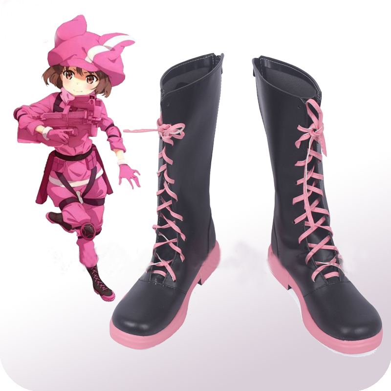 Sword Art Online Alternative: Gun Gale Online DLC Llenn Cosplay Shoes Boots Halloween Party Cosplay Costume Accessories