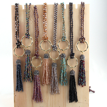 Mini Glass Knotted Crystal Necklaces