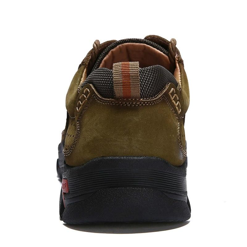 Travail Marron Homme kaki De Véritable Classique Marche Cargo Décontracté Qualité Sneakers Adulte Grande Hommes Pour Taille Cuir Sécurité Chaussures YyIgbmf7v6