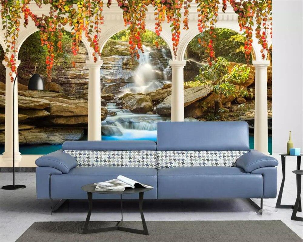 sala de estar gris collonade Beibehang Europea De Lujo Bronceado Proceso 3D Escultura