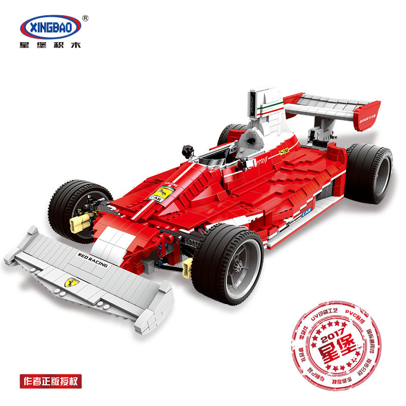 XINGBAO 03023 Technic Series Genuine The Red Power Racing Car Set Building Blocks Bricks Toys As