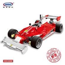 XINGBAO 03023 Technic серия подлинные красные силовые гонки автомобиль набор строительных блоков Кирпичи игрушки в качестве рождественского подарка для детей