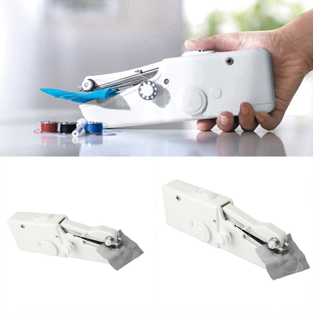 Portable Cordless Hand Held Cross-Stitch Sewing Machine Home Travle Clothes New