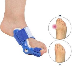 Image 4 - Dobrej jakości duży przyrząd do prostowania palców u nóg zespół cieśni kanału nadgarstka palucha koślawego korektor dzień szyna na noc ulgę w bólu nylon bluk