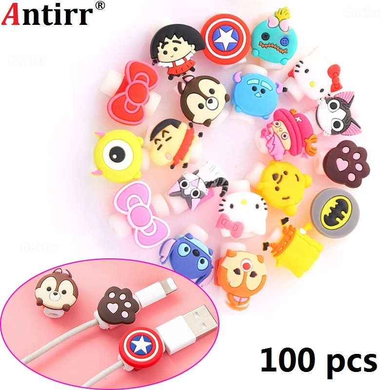 Accessories & Parts Lovely Cartoon Charger Cable Winder Protective Case Saver 8 Pin Data Line Protector Earphone Cord Protection Sleeve Wire Cover Digital Cables