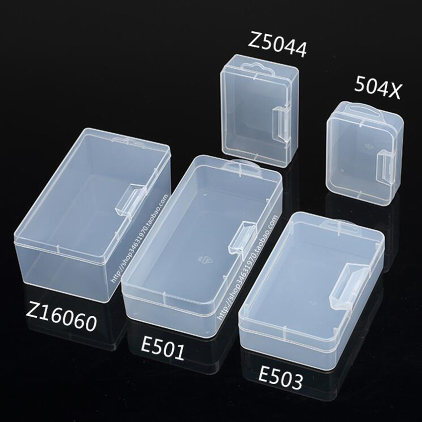 Rectangular Plastic Clear Transparent Storage Electronic Parts Screw Beads Box Collection Container Organizer