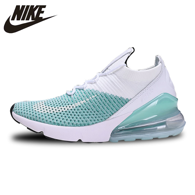 Nike Air Max 270 Cushion Sneakers Sport Flyknit Running Shoes Classic Light Green AH6803 301 for Women 36 39