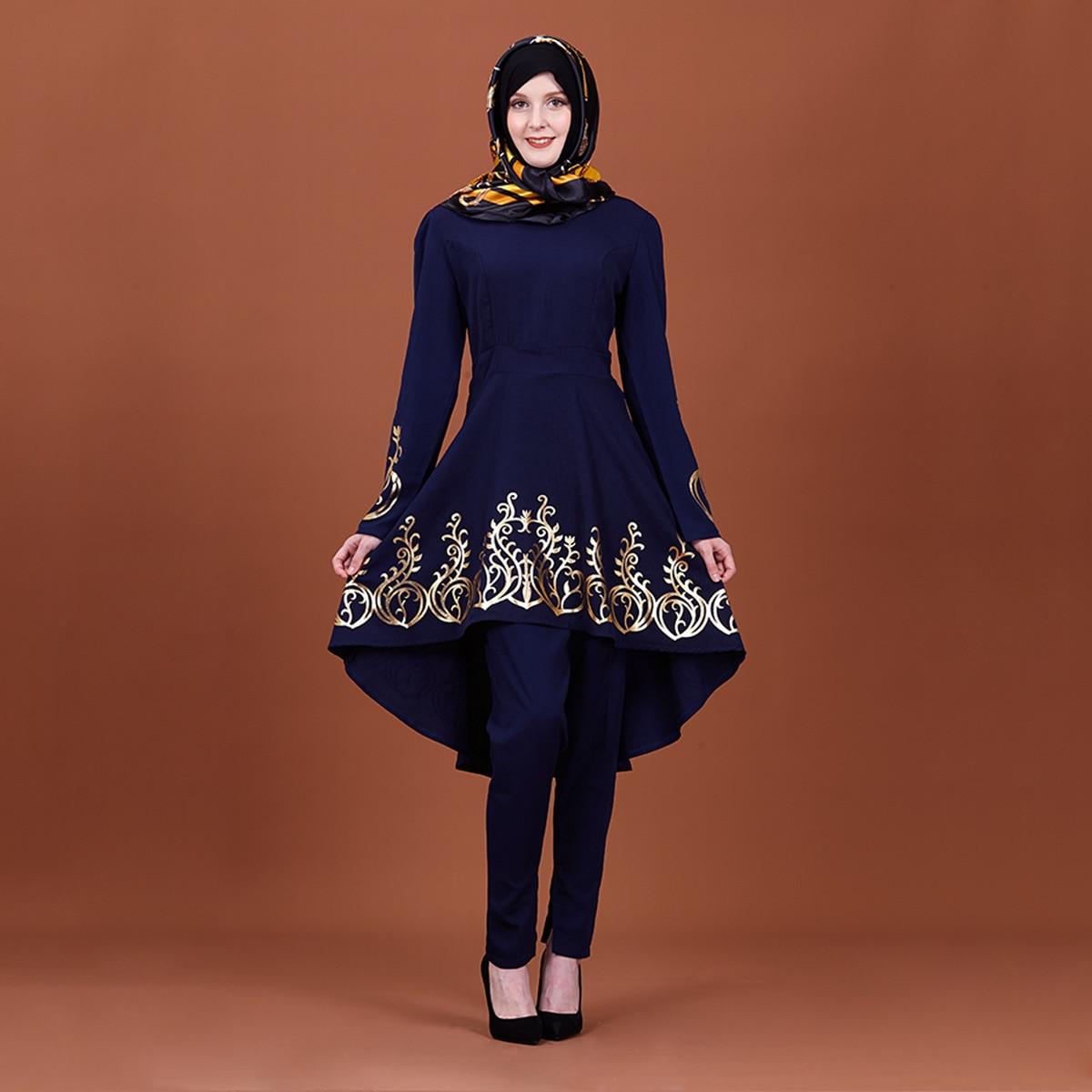 Muslim Dress Women Islamic Clothing Moroccan Kaftan Hot Stamping Fashion Abayas Robe Dubai Abaya Turkish Clothes New Women Women's Abaya Women's Clothings cb5feb1b7314637725a2e7: Dark Brown|black|Navy blue