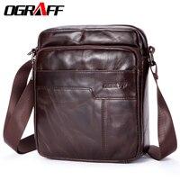 OGRAFF Comprimidos Homens sacos de homens bolsa de ombro designer de saco do mensageiro dos homens genuíno couro de cavalo louco maleta homens sacos de viagem de luxo